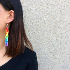 RAINBOW CHAIN EARRINGS