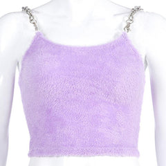 SEXY FURRY CHAIN CAMISOLE