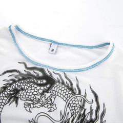 DRAGON PRINT MESH TOP