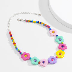 FLOWER TOY CHOKER NECKLACE