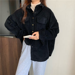 BAT SLEEVE CORDUROY COAT SHIRT