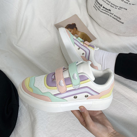 RAINBOW HEART CONTRAST CASUAL SHOES (4.5-8.5)