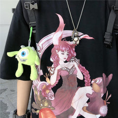 BEAST CARTOON CHARACTER RABBIT PRINT TEE