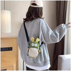 CUTE BUNNY CANVAS MESSENGER BAG