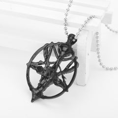 STAR GOAT HEAD SKULL NECKLACE (2 PCS)