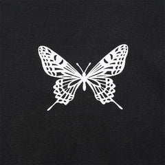 BUTTERFLY CONTRAST CROP TOP