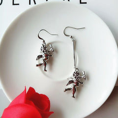 CUPID'S ARROW ASYMMETRICAL EARRINGS