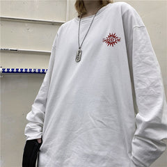 SUN PRINT LONG SLEEVE T-SHIRT
