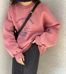 SENSIBLE CHOICE PRINT SWEATSHIRT