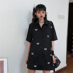 BUTTERFLY EMBROIDERED SHIRT