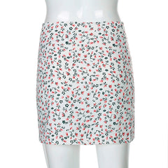 SMALL FLORAL SPLIT HIP SKIRT