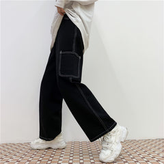 STREET BIG POCKET CARGO JEANS