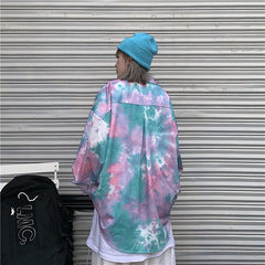 DARK TIE DYE LONG SLEEVE SHIRT