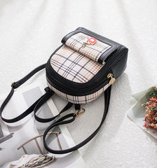 CONTRAST GRID PU BAG