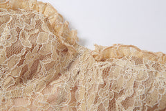 LACE CORSET TUBE TOP