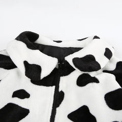 COW FAUX FUR JACKET