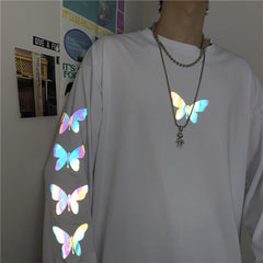 REFLECTIVE BUTTERFLY LONG SLEEVE T-SHIRT