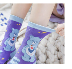 JAPANESE CARTOON BEAR PRINT SOCKS (2 pairs)