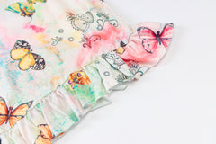 COLORFUL BUTTERFLY PRINT SLING DRESS
