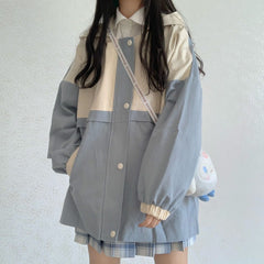 COLOR BLOCK POCKET JACKET
