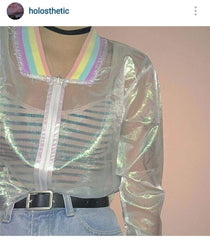 RAINBOW SEE THROUGH JACKET 202101