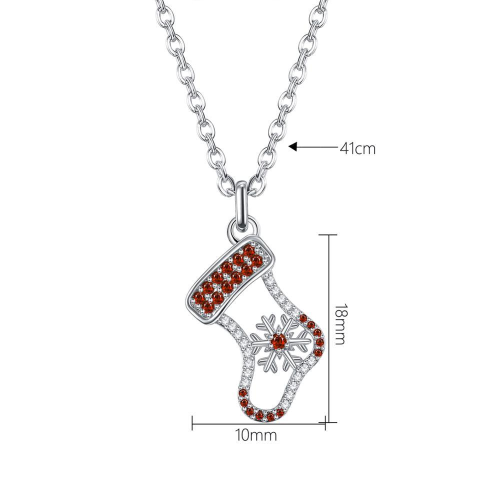 Fashion Necklace Christmas Socks Pendant Zircon Necklaces Newest jewelry Christmas Series