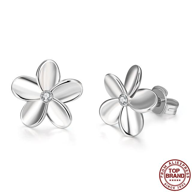 2020 Hot Earrings European and American popular Simple Flower Minimalist Stud earrings For Woman Girls