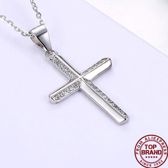 925 Sterling Silver Necklace Cylindrical Fashionable Simple Crosswind Necklace For Women Girl Female Jewelry Wedding Gift
