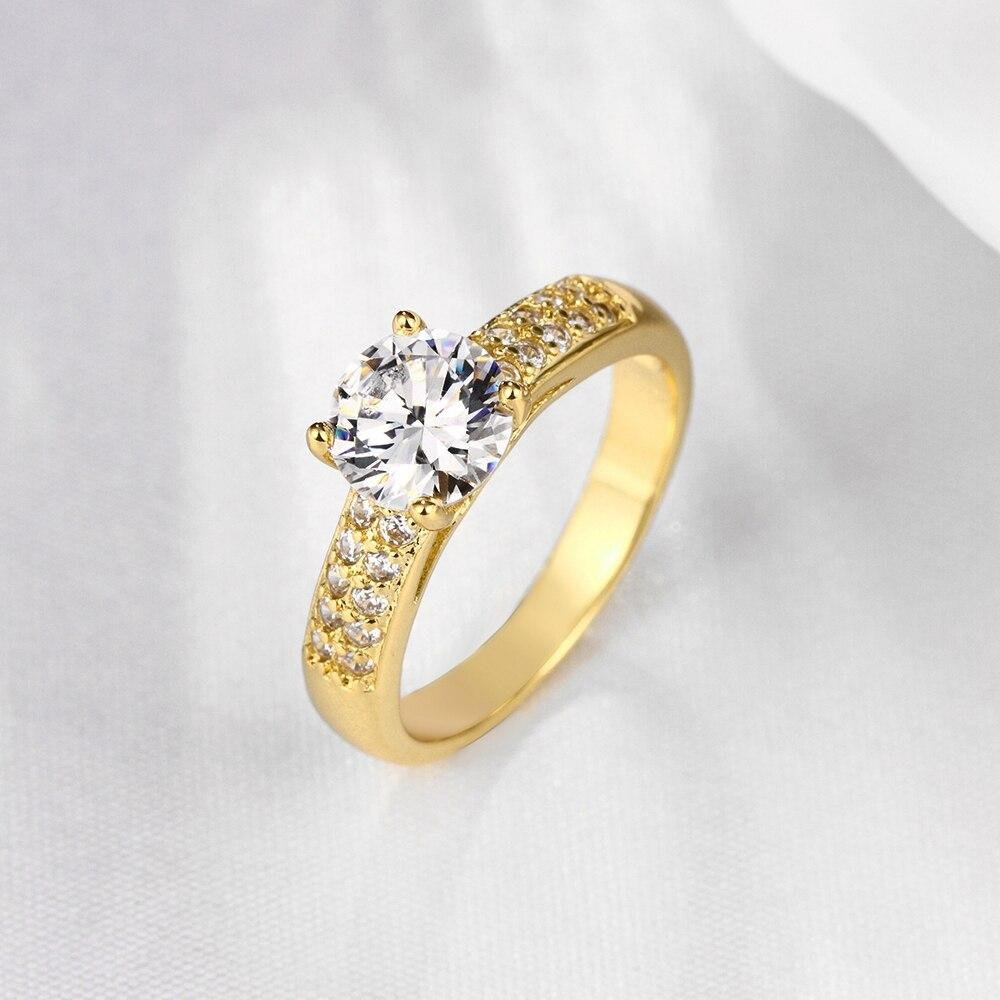 Fashion European and American Popular Personality Zircon Generous Double ring Wedding Female Jewelry Ring Women