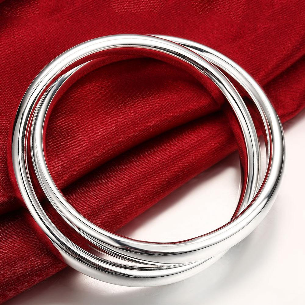 Fashion Silver Plated Bracelet Men's Double Circle Bracelet 2020 New Hot Sale Send Boyfriend Romantic Anniversary Gift