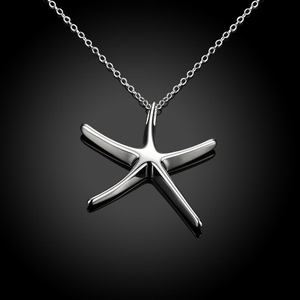 Fashion Silver Plated Necklace Creative Starfish Ladies Necklace Seiko Send Friends Romantic Engagement Party Gift