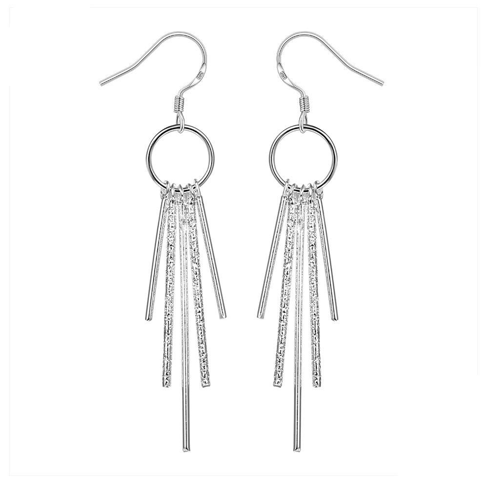 Fashion Simple Geometric Shape Silver Earrings Remembrance Day Party Women's Earrings