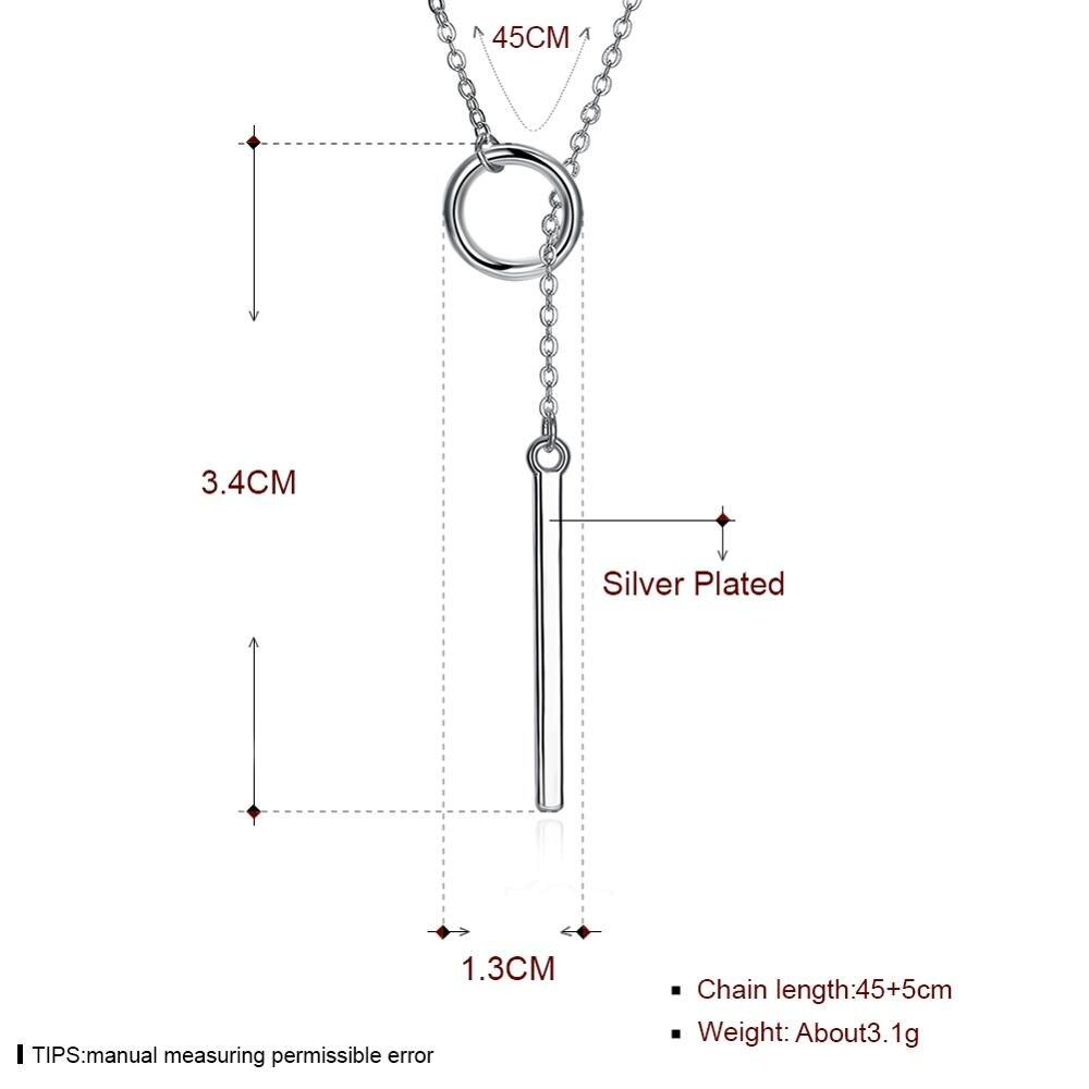 Fashion Trend Necklace Silver Plated Women's Necklace Seiko Send Friends Romantic Engagement Party Gift