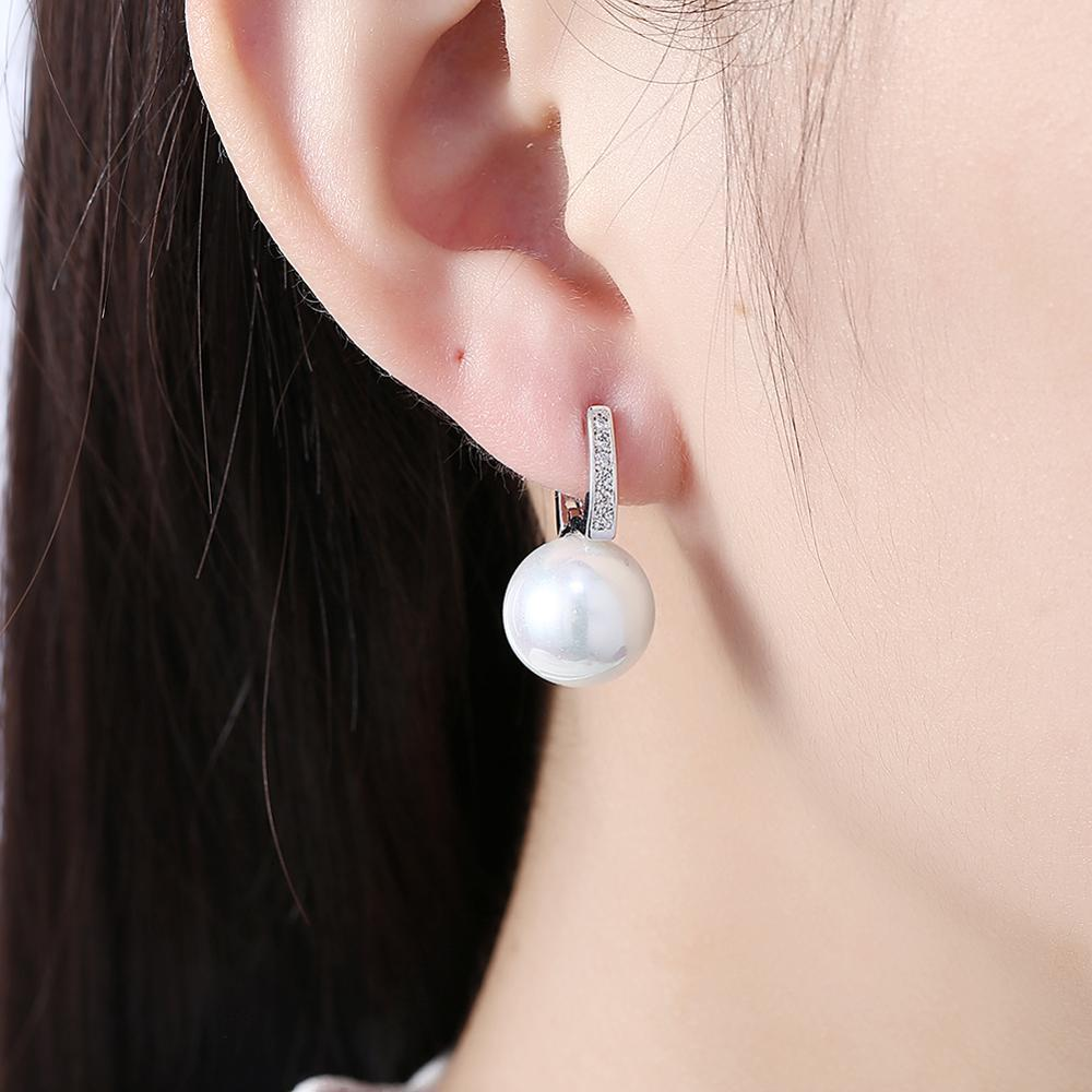 Fashion Zircon Romantic Pearl Earrings Women's Earrings Party For Girlfriends  earings fashion jewelry