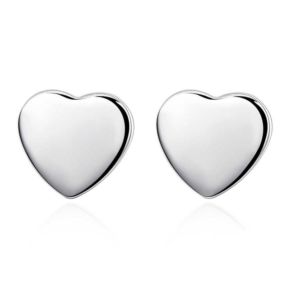 New 2020 hot-selling romantic heart-shaped silver Personality art earrings for women