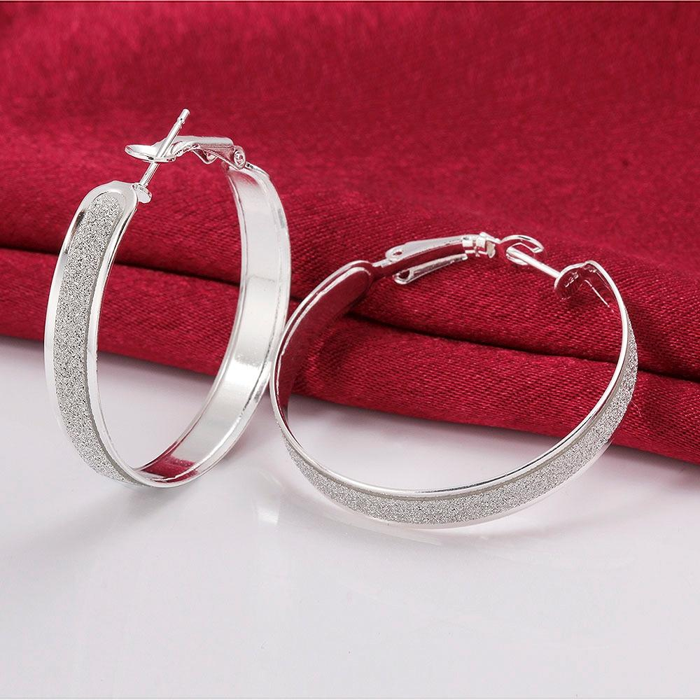 Silver Plated Earrings Exquisite Fashion Jewelry Romantic Round Earrings 2020 New Anniversary Gift for Girlfriends