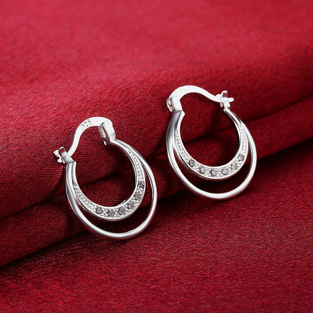 Silver Plated Earrings Exquisite Fashion Personality Jewelry Anniversary Send Girlfriend Romantic Moon Earrings Gift