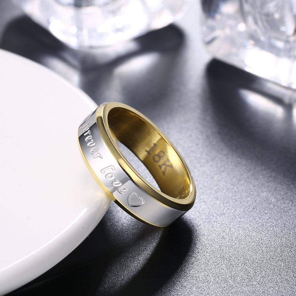 eternal love stainless steel For Men's fashion boy Ring Creative Couples Fine Jewelry Send boyfriend a valentine gift
