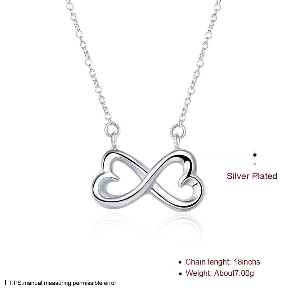 exquisite fashion silver plated necklace woman trend 2020 new personality anniversary to send girlfriend birthday gift