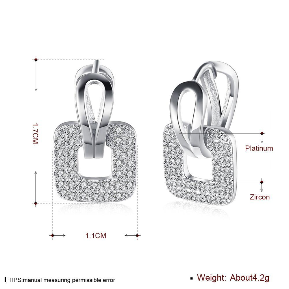 fashion zircon square earrings romantic art party wedding personality ladies earrings