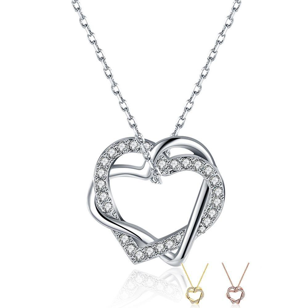 new fashion hot selling heart shaped rhinestone pendant ladies necklace party to send girlfriend ladies pendant necklace