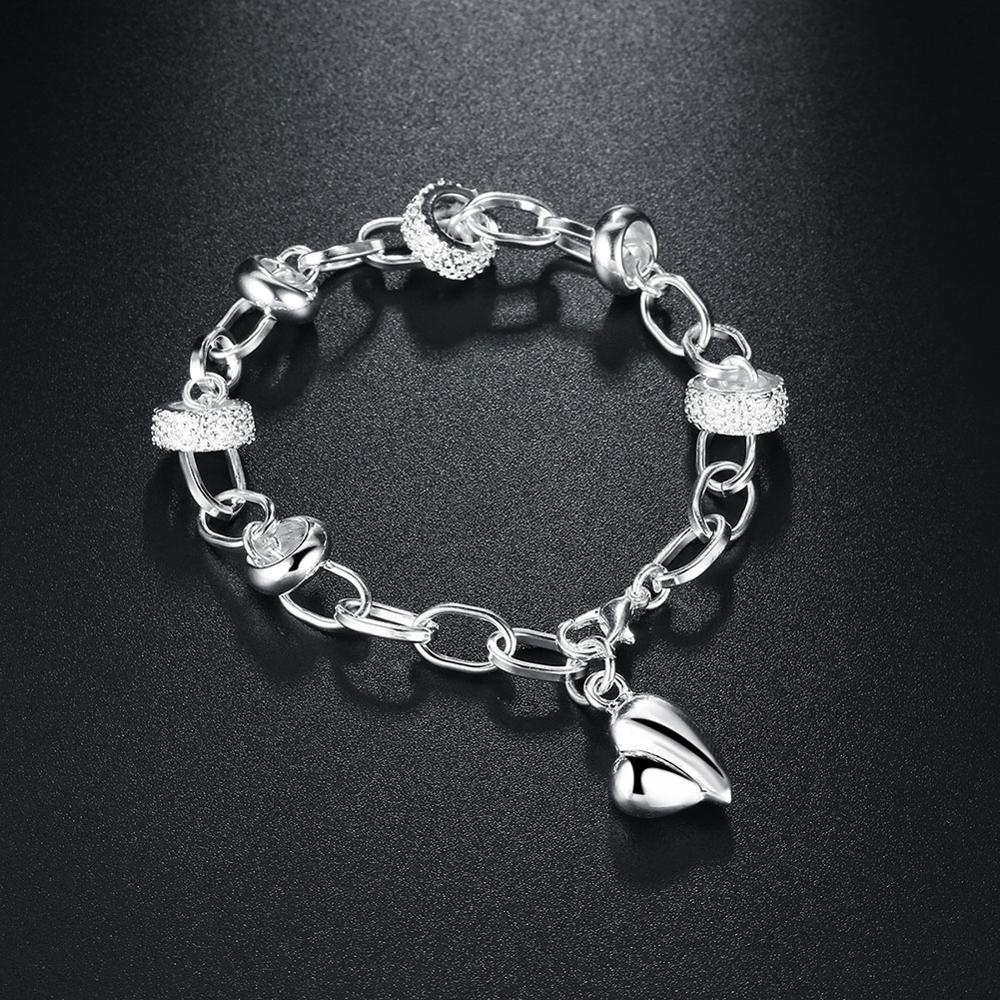 Small Peach Heart Bracelet Round Silver-plated Chain Bracelet Bracelets for Women 2020 Hot Selling