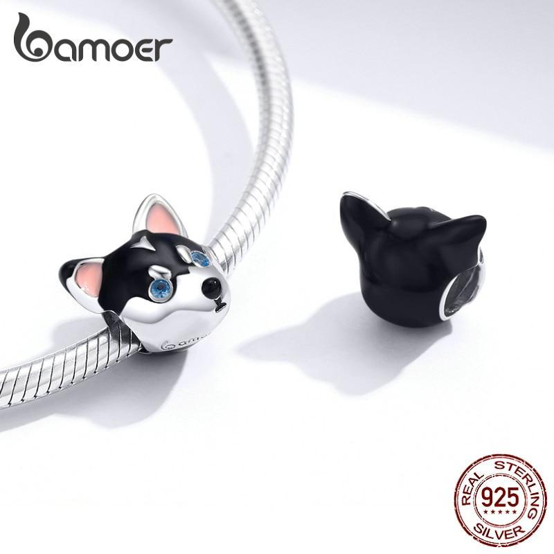 bamoer Puppy Animal Dog Beads Charm for Original 3mm Snake Bracelet  Jewelry DIY Bracelet BSC191