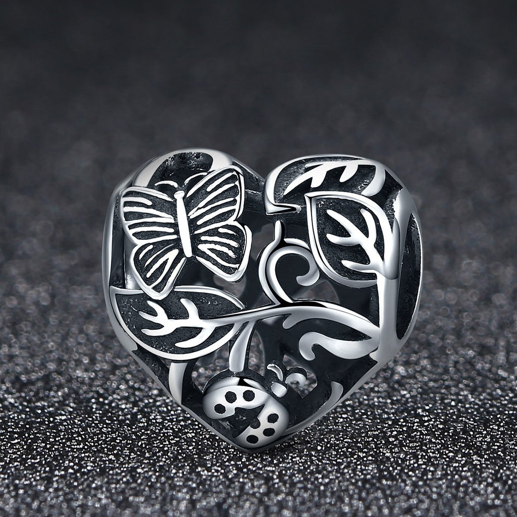 925 Sterling Silver Butterfly Lane Tree Garden Beads Charms fit Original Charm Bracelet DIY Jewelry Gift SCC155