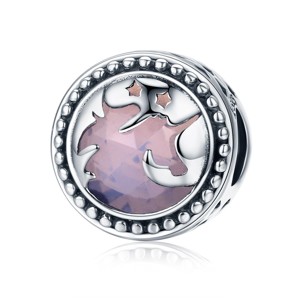 Authentic 925 Sterling Silver Fantasy Unicorn Big Stone Charm Beads fit Charm Bracelet DIY Jewelry Gift SCC377