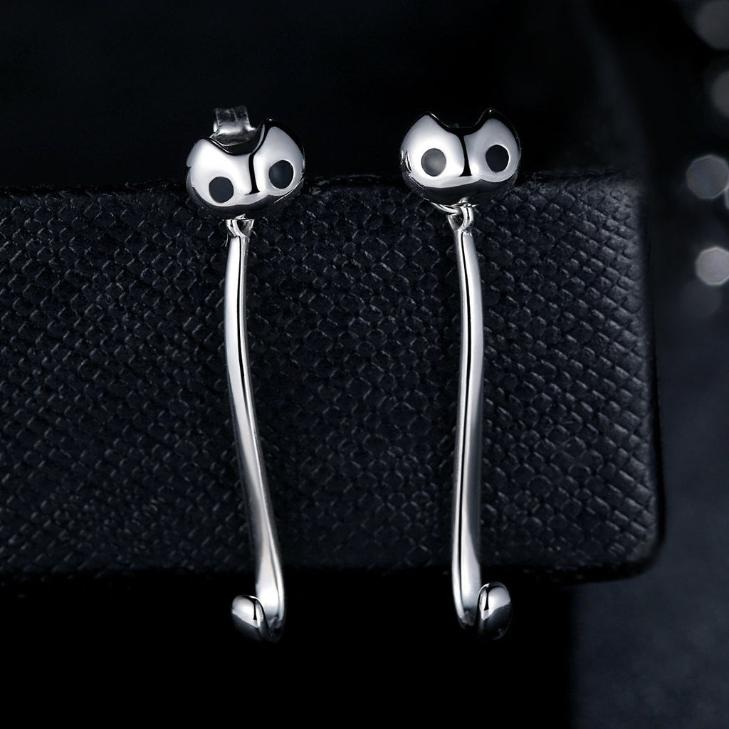 925 Sterling Silver Owl Lovely Animal Dangle Earrings Fashion Jewelry for Women SCE007