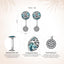 925 Sterling Silver Green Glass Dazzling CZ Tree of Life Drop Earrings for Women Fine Jewelry SCE087