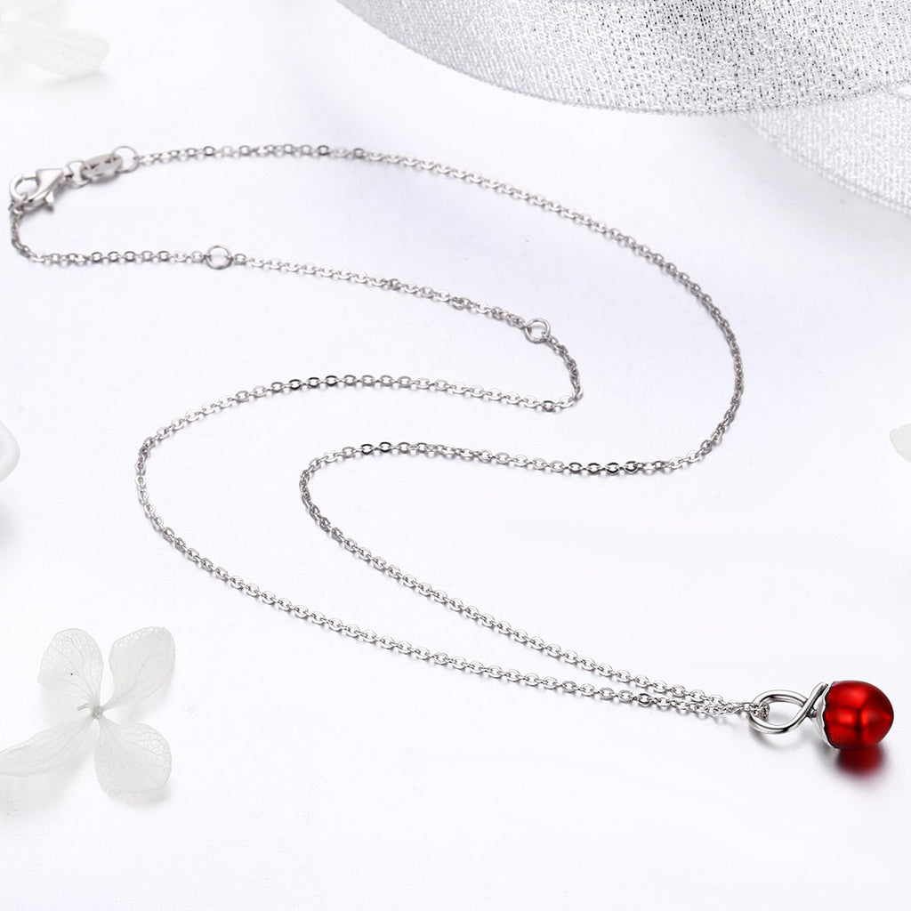 Summer Collection 925 Sterling Silver Summer Fruit Hazelnut Pendant Necklaces for Women Sterling Silver Jewelry SCN228