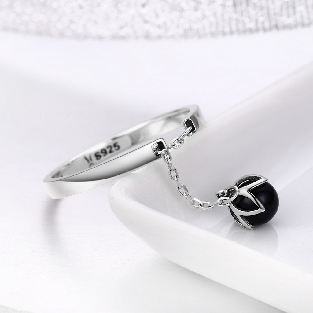 Hot Sale Authentic 925 Sterling Silver Tears Of Flowers Dangle Open Finger Rings for Women Sterling Silver Jewelry SCR314