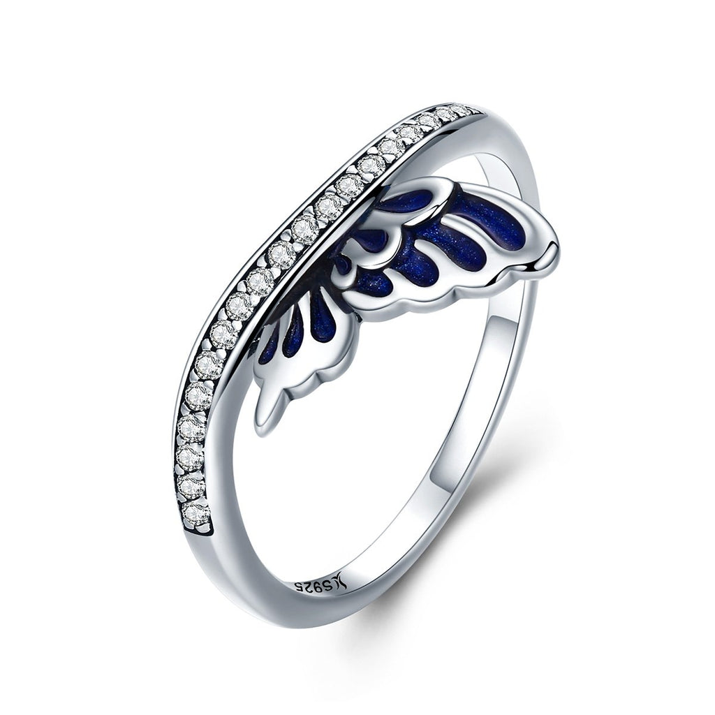Hot Sale 100% 925 Sterling Silver Elven Wing Finger Rings for Women Wedding Anniversary Jewelry Anel SCR330